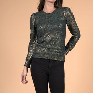 Nightcap Metallic Lace Sweatshirt NWT! Size Small